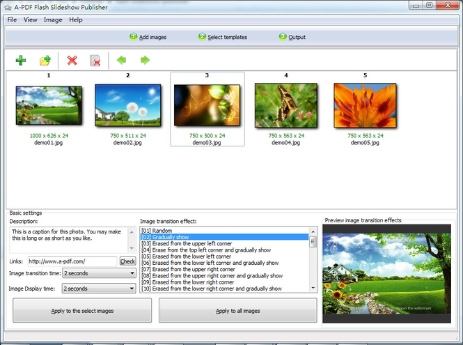 Boxoft Flash SlideShow Creator Screenshot