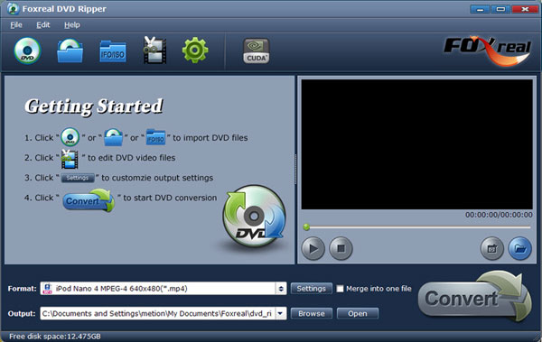 Foxreal DVD Ripper Screenshot