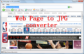 Web Page To JPG Converter 1