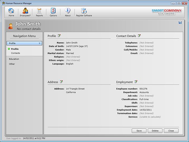 Human Resource Manager (Professional) Screenshot