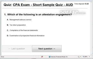 CPA Exam - AUD - Sample Test Screenshot 3