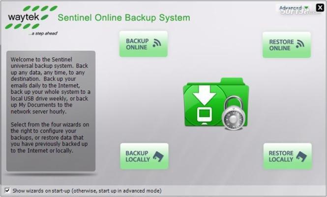 Sentinel Online Backup Screenshot 3