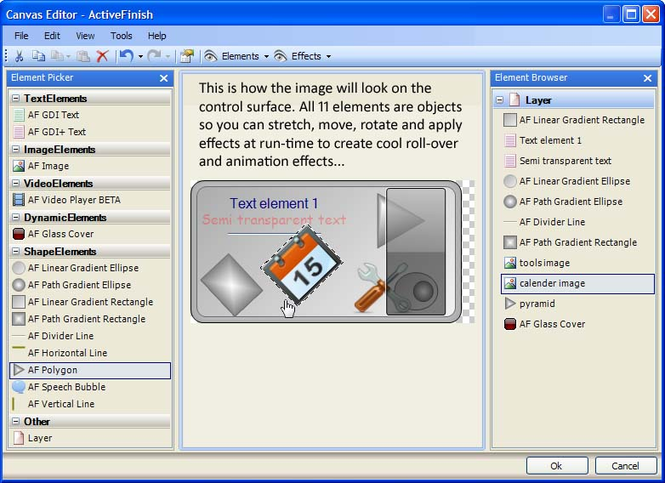 ActiveFinish Express Edition Screenshot