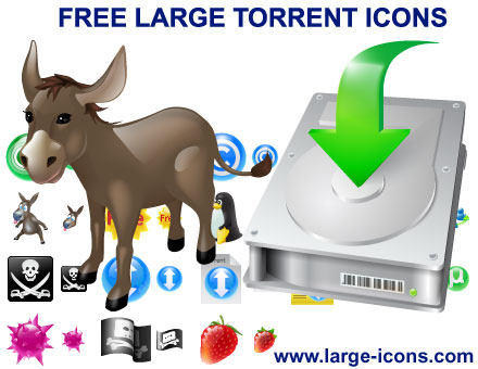 Free Large Torrent Icons Screenshot