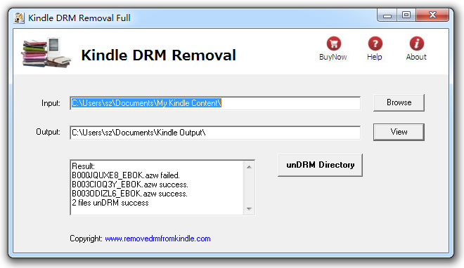 Kindle Drm Removal Screenshot