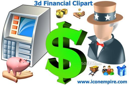 3d Financial Clipart Screenshot 2
