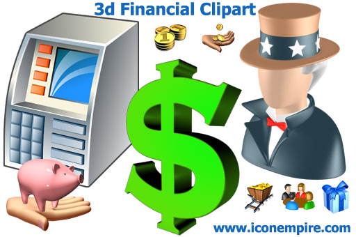 3d Financial Clipart Screenshot 1