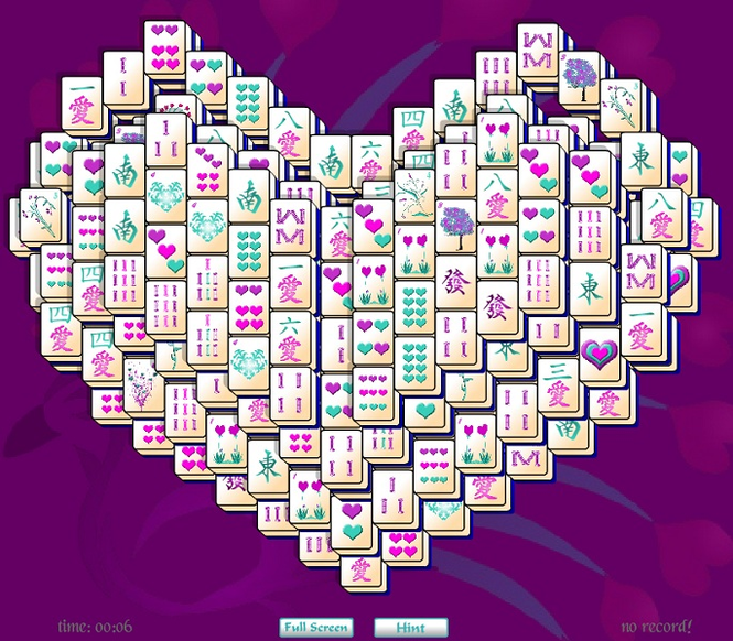 Heart Mahjong Solitaire Screenshot 1