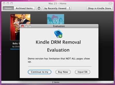 Kindle DRM Remvoal Mac Screenshot