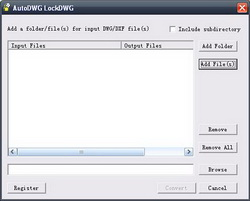 AutoDWG DWGLock Screenshot