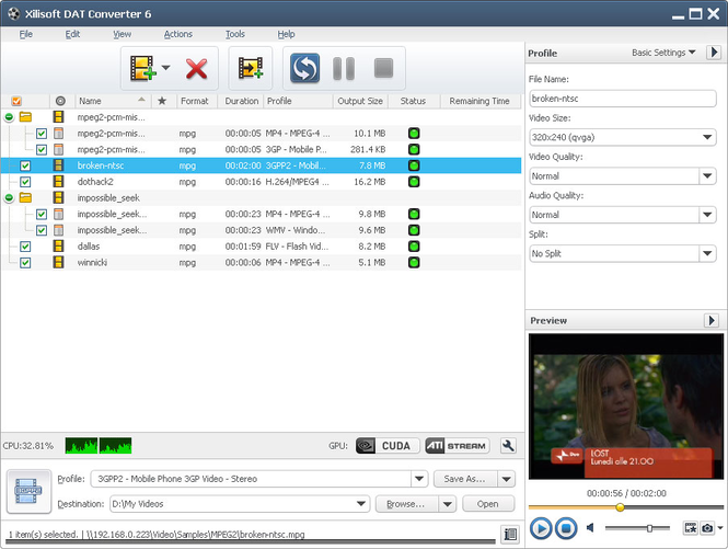 Xilisoft DAT Converter Screenshot 1