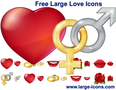Free Large Love Icons 1