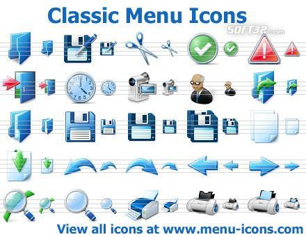 Classic Menu Icons Screenshot 2