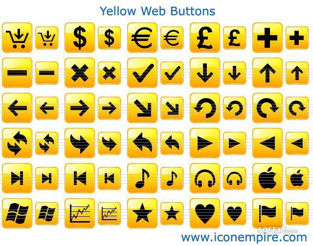 Yellow Web Buttons Screenshot 2