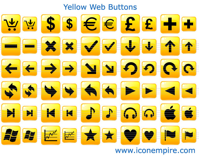 Yellow Web Buttons Screenshot