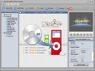 Clone2Go DVD to iPod Converter Screenshot