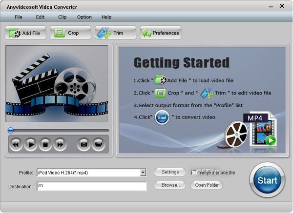 Anyvideosoft Video Converter Screenshot 2