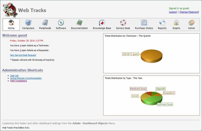 Web Tracks 2011 Screenshot 1