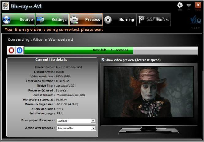 Blu-ray to Avi Screenshot 3
