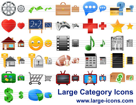 Large Category Icons Screenshot