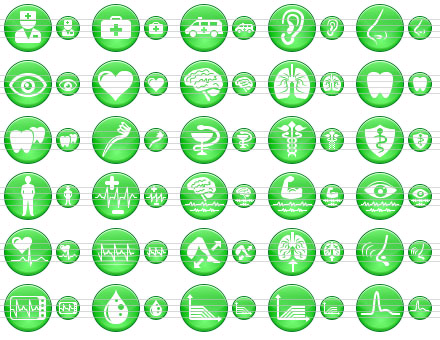 Green Medical Icons Screenshot