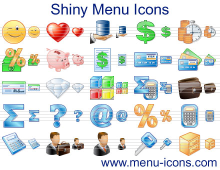 Shiny Menu Icons Screenshot