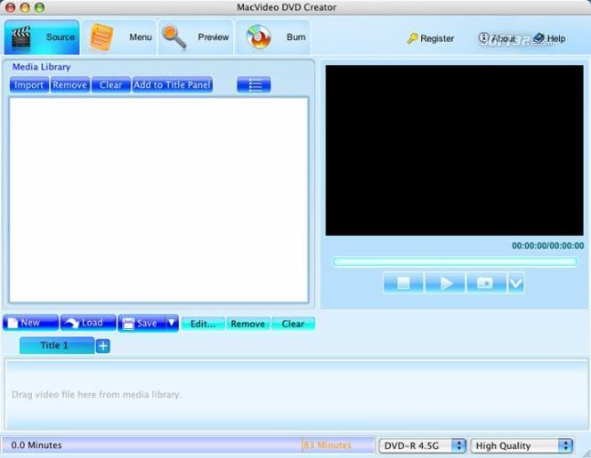 MacVideo DVD Creator Screenshot 2