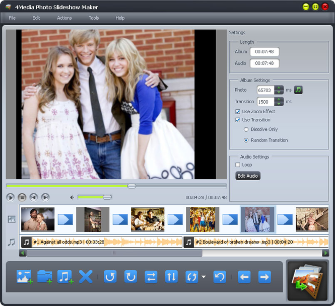 4Media Photo Slideshow Maker Screenshot 1