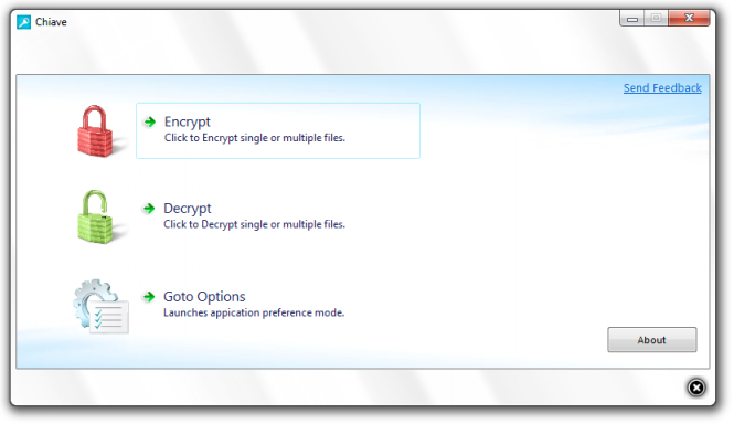 Chiave File Encryption Screenshot