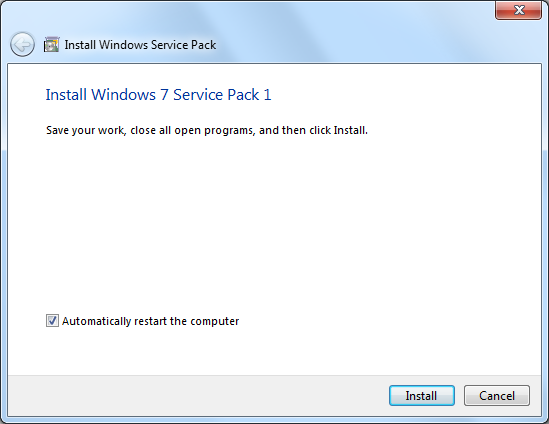 Windows 7 Service Pack 1 (SP1) Screenshot