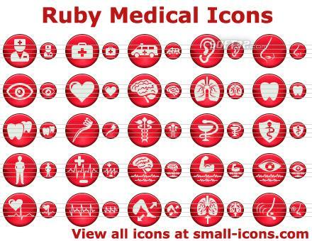 Ruby Medical Icons Screenshot 3
