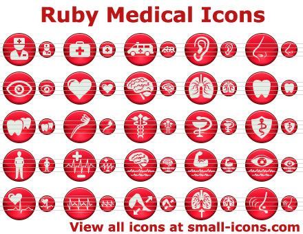 Ruby Medical Icons Screenshot