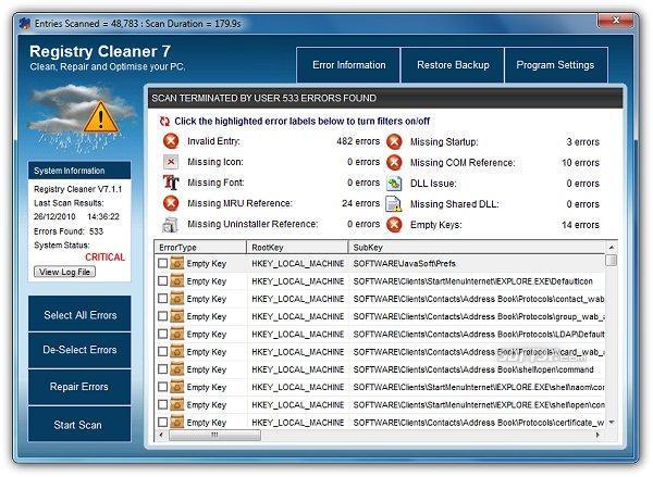 PC TuneUp Tools 2011 Screenshot 3