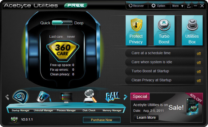Acebyte Utilities Free Screenshot 3