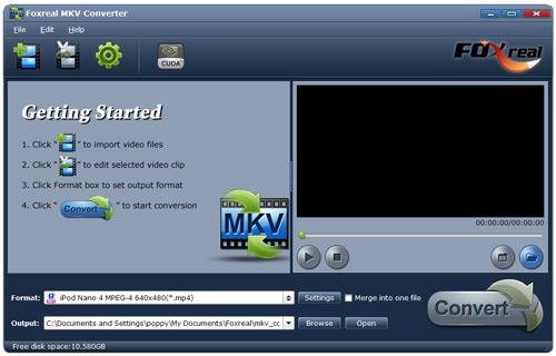 Foxreal MKV Converter Screenshot