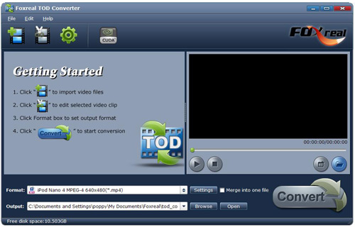 Foxreal TOD Converetr Screenshot