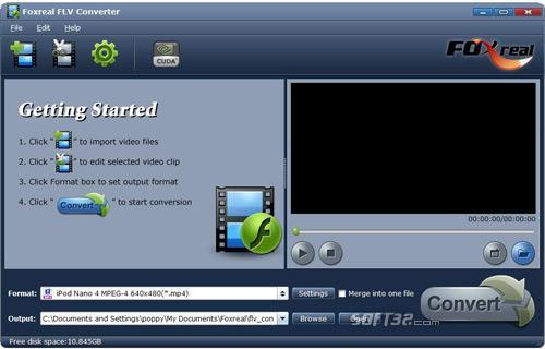 Foxreal FLV Converter Screenshot 3