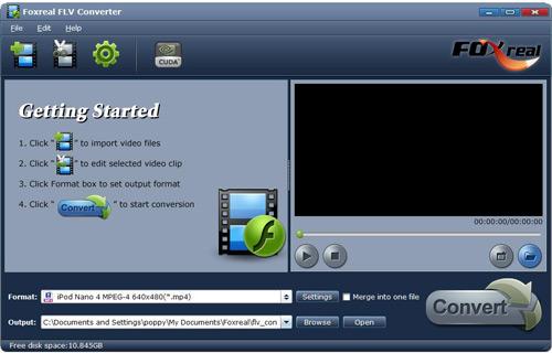 Foxreal FLV Converter Screenshot