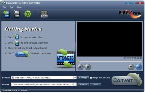 Foxreal MTS/M2TS Converter Screenshot