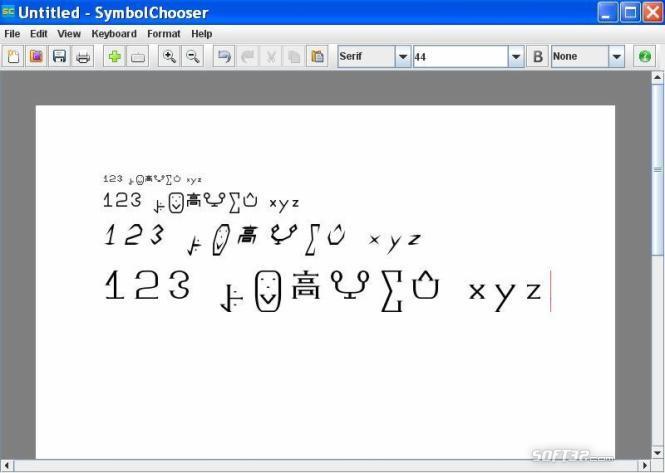 SymbolChooser Screenshot 3