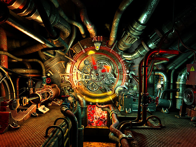 Steam Clock 3D Screensaver Screenshot