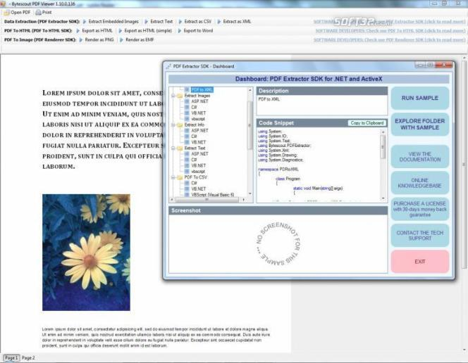 PDF Extractor SDK Screenshot 3