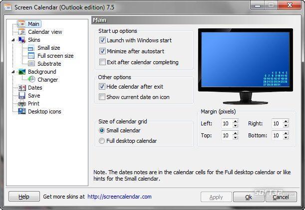 Screen Calendar for MS Outlook Screenshot 3