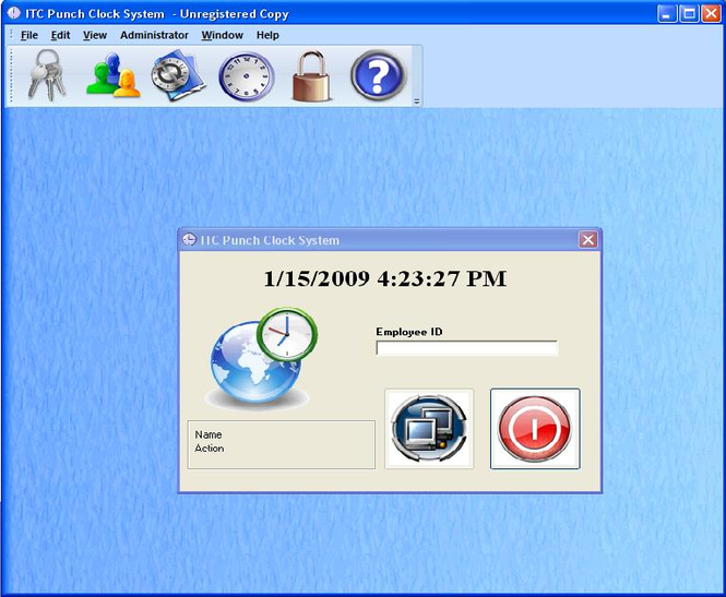 ITC Punch Clock Screenshot