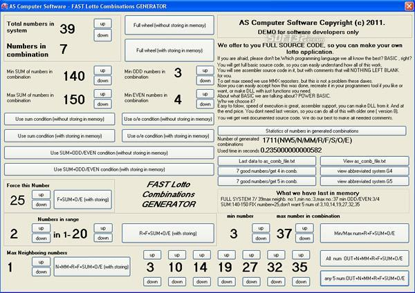 Fast wheel lotto generator Screenshot 2