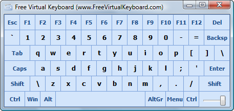 Free Virtual Keyboard Screenshot 1