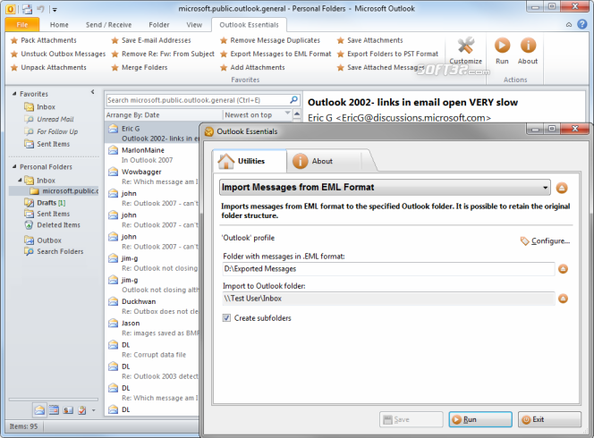 Outlook Essentials Screenshot 2