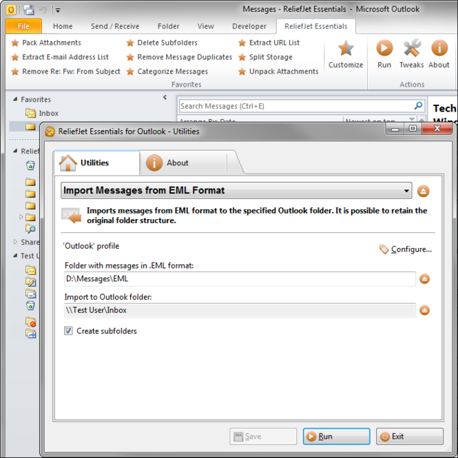 Outlook Essentials Screenshot 1
