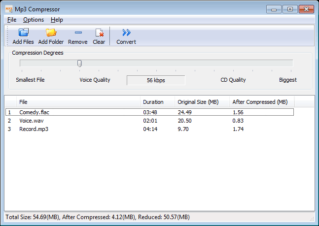 Mp3 Compressor Screenshot