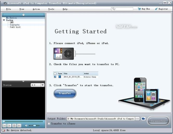 Aiseesoft iPod to Computer Ultimate Screenshot 2